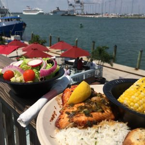 Salmon Dinner Seafood Atlantic Port Canaveral Fresh Seafood