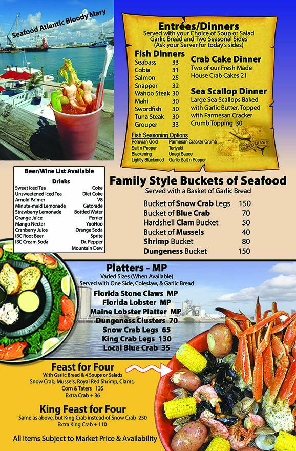 Menu Fresh Seafood